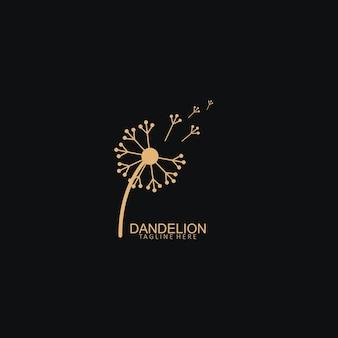 Paardebloem bloem logo eenvoudige creatieve sjabloon