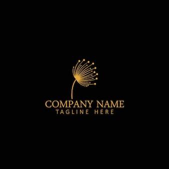 Paardebloem bloem logo pictogram ontwerp sjabloon vectorillustratie