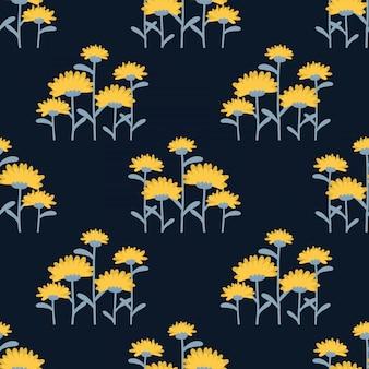 Paardebloem bloemen naadloze patroon.