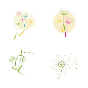 Paardebloem vector pictogram ontwerpsjabloon
