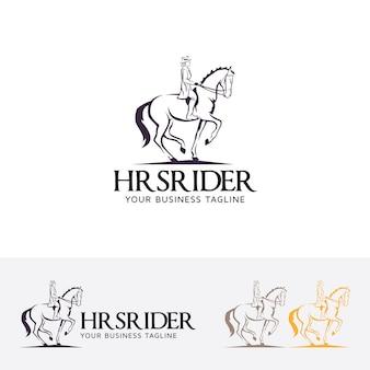 Paarden ruiter logo sjabloon
