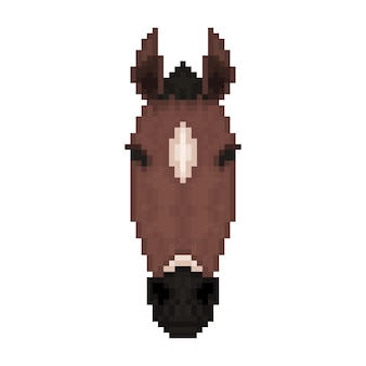 Paardenhoofd in pixelkunststijl