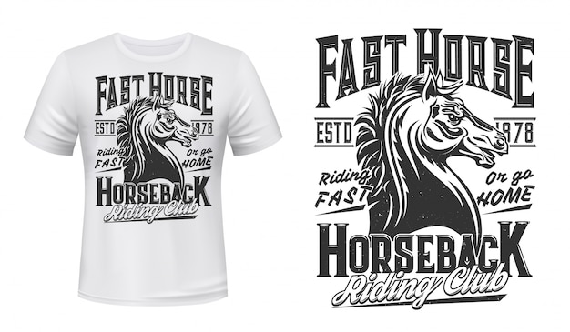 Paardensport en riding club t-shirt print