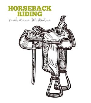 Paardrijden concept geïsoleerd op wit