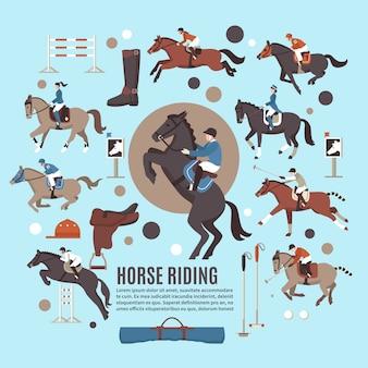 Paardrijden flat