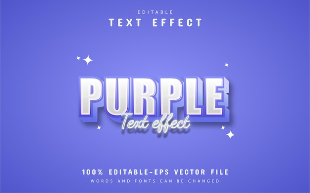Paars 3d-stijl teksteffect ontwerp