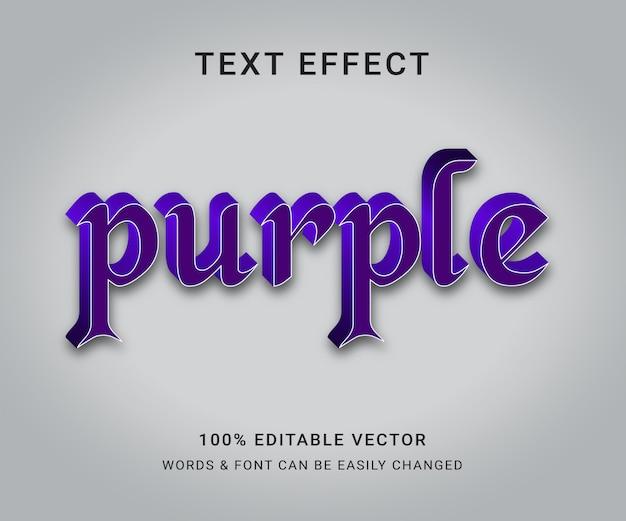 Paars bewerkbaar teksteffect
