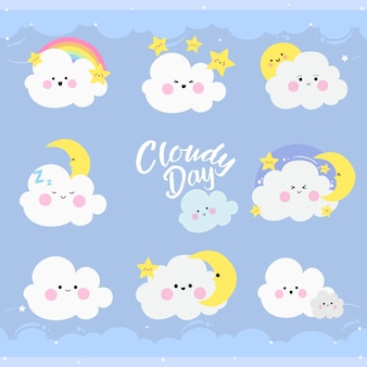 Paars bewolkte dag