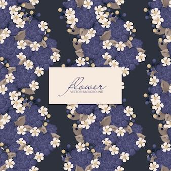 Paars bloemen naadloos patroon