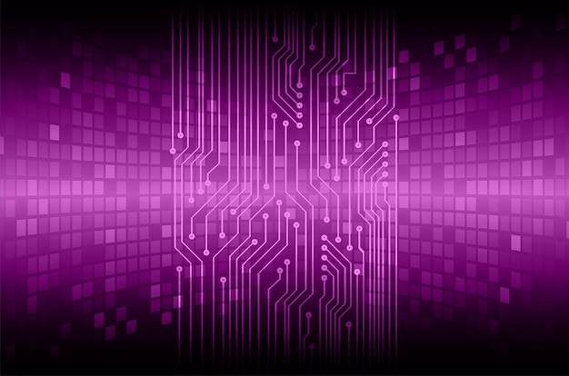 Paars cyber circuit toekomst technologie concept