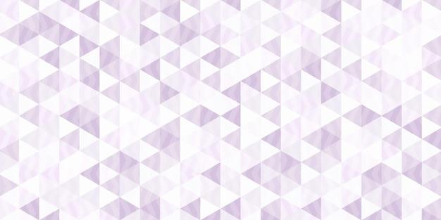 Paars driehoekig patroon met maaswerk aan de binnenkant, abstracte geometrische veelhoekige achtergrond