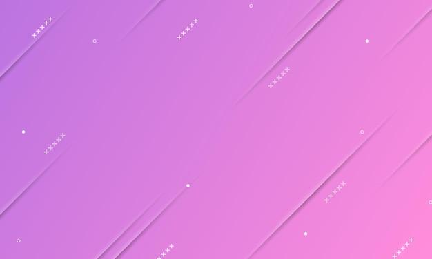 Paars en roze verloop met schaduwlijnen textuur en memphis elementen. ontwerp voor web, folders