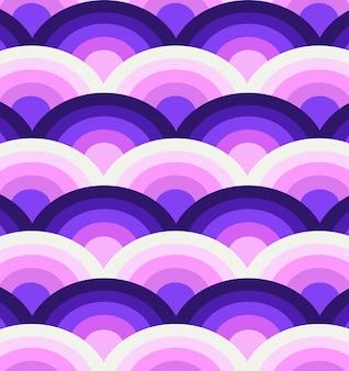Paars golven naadloos patroon