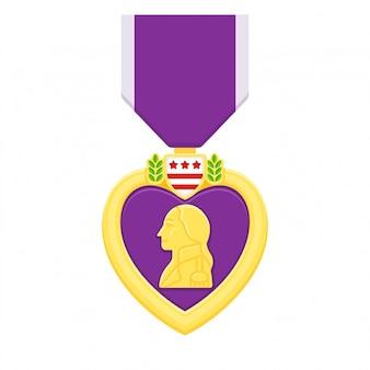 Paars hart medaille, amerikaanse legerprijs.