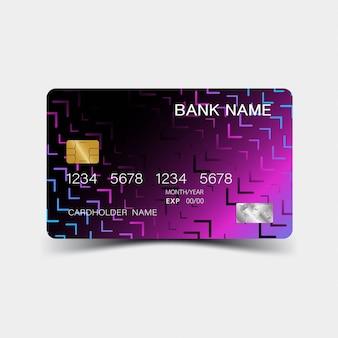 Paars kleurverloop creditcard ontwerp.
