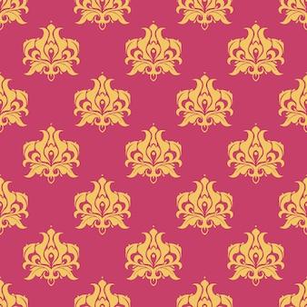 Paars koninklijk patroon