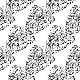 Paars omtrek contour naadloos patroon in decoratieve stijl. geïsoleerde afdrukken. witte achtergrond.