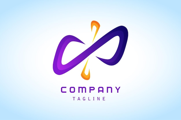 Paars oranje oneindig abstract gradiënt logo corporate