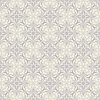 Paars patroon met bloemen en wervelingen