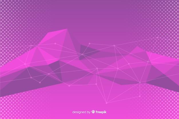 Paarse abstracte geometrische vormen achtergrond
