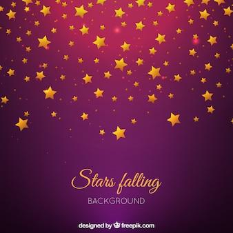 Paarse achtergrond met gouden sterren