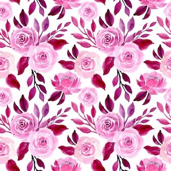 Paarse aquarel naadloze bloemmotief