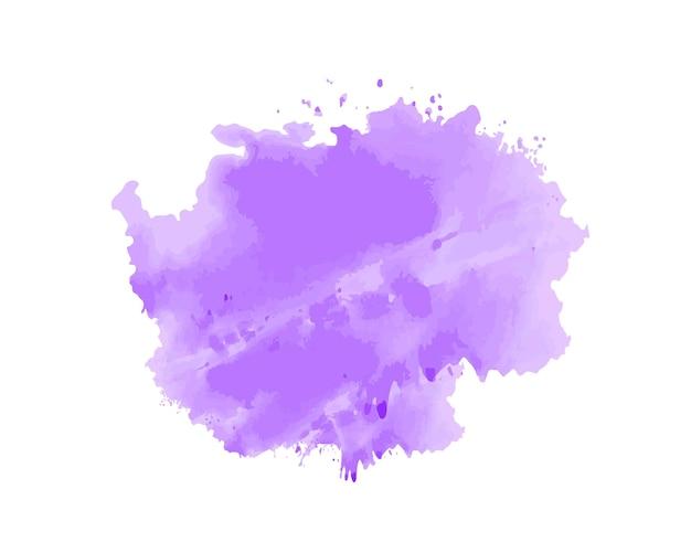 Paarse aquarel penseelstreek vector