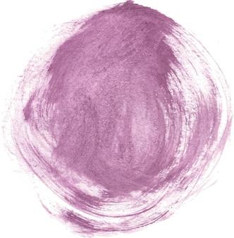 Paarse aquarel ronde penseelstreekvorm
