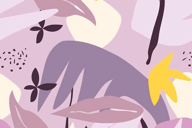 Paarse bladachtergrond, naadloze patroonvector
