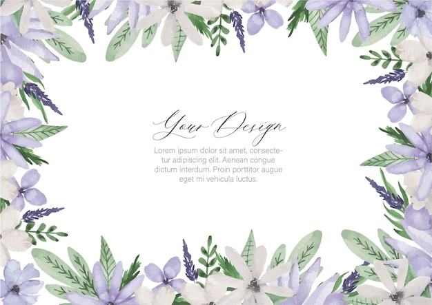 Paarse bloem frame