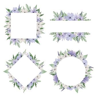 Paarse bloem kaderset