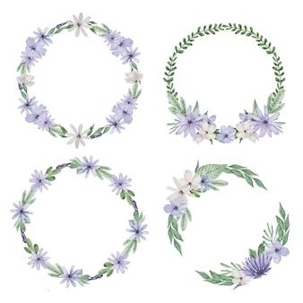 Paarse bloem krans