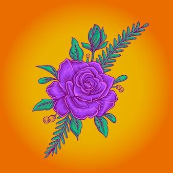 Paarse bloem vector