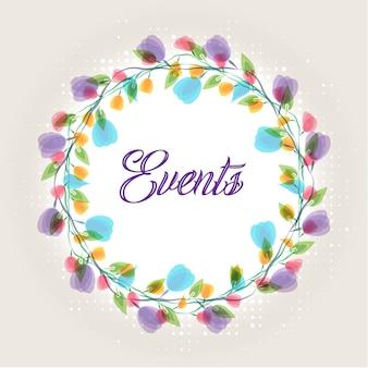Paarse bloemen bruiloft uitnodigingskaart