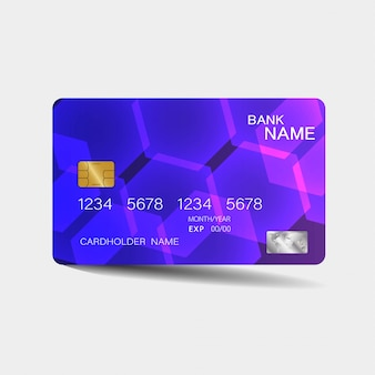 Paarse creditcard