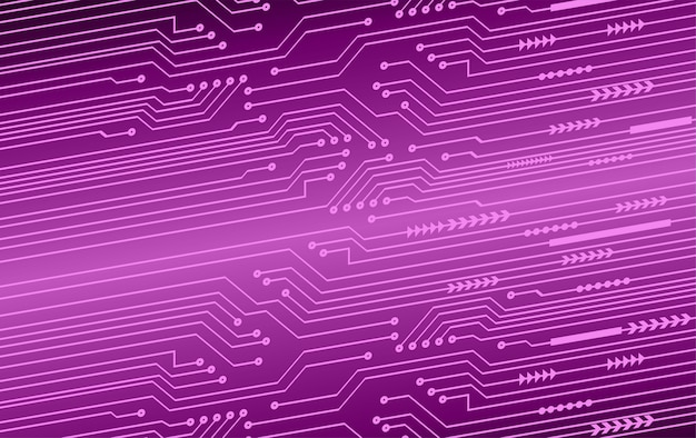 Paarse cyber circuit toekomstige technologie concept achtergrond