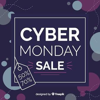 Paarse cyber maandag te koop banner