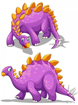 Paarse dinosaurus met spikes staart