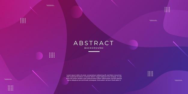 Paarse en roze achtergrond met kleurovergang geometrische vorm