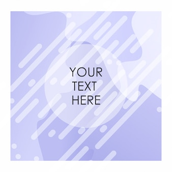 Paarse en witte achtergrond met typografie vector