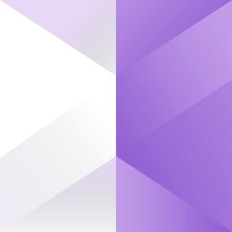 Paarse geometrische achtergrond ontwerp vector