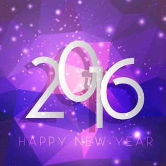 Paarse geometrische nieuwe jaar achtergrond