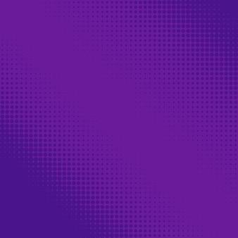 Paarse halftoonstippen. kleurrijke geometrische gradiënt voor pop-art ontwerpen. gestippelde geometrische retro patroon. komische halftone achtergrond.