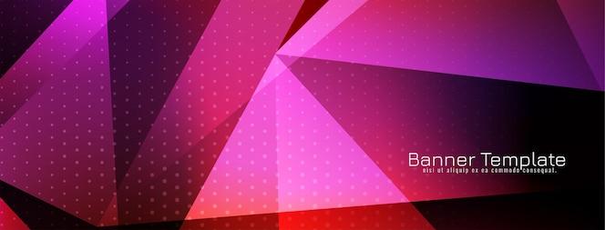 paarse kleur geometrische stijl banner