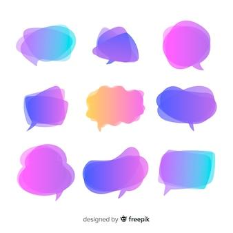 Paarse kleurovergang tekstballonnen
