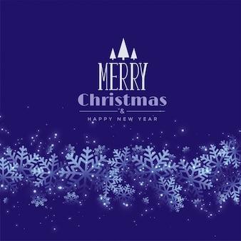 Paarse of blauwe sneeuwvlok kerstmis