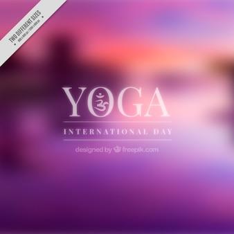 Paarse onscherpe achtergrond yoga