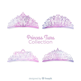 Paarse prinses tiara collectie