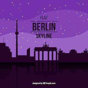 Paarse skyline van berlijn