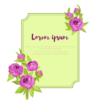 Paarse vintage bloemen rond frame met teken